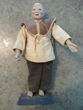 Antique Vintage Chinese Bisque Porcelain Mud Man Figurine