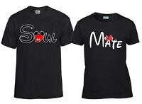 Soul Mate Love Couple Matching T-Shirt Valentines Cute Funny Mickey Minnie