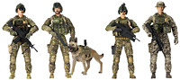 Elite Force Sunny Days Entertainment Army Rangers Action Figure 5 Pack with 14 &
