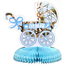 "10"" Blue Camo Baby Shower Baby Its A Boy Buck Party Table Centerpiece Decoration"