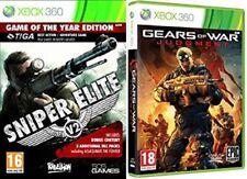 Sniper Elite v2 Gotye Usado & Gears Of War Judgment Nuevo Y Sellado Xbox 360 PAL