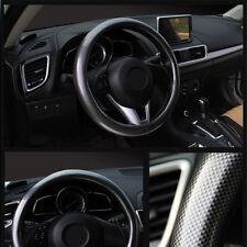 luxury Full Carbon fiber pattern Leather Car Non-slip Steering Wheel Cover Auto