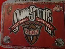 2002 OHIO STATE NATIONAL CHAMPIONS STADIUM THROW 100% COTTON AND FRINGED HEAVY