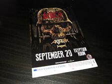 Slayer_Anthrax_Death Angel -2-Sided Flyer/Handbill -Indianapolis Show (9-20-16)