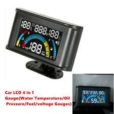 4 In 1 Car Oil Pressure+Voltmeter Volt Gauge+Water Temperature +Oil Fuel Gauge