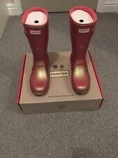 Ladies Hunter Short Nebula Wellie Boots. Rhythmic Pink. Size UK 5