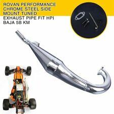Rovan Performance Chrome Steel Side Mount Tuned Exhaust Pipe Fit HPI Baja 5B KM