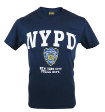 Officially Licensed NYPD Printed T-Shirt. New York Police Hologram Tag UK Seller