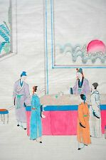 Parable of the Talents, (lesson by Jesus)-Chinese Art,Watercolor on Paper c.1940