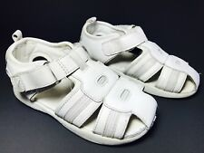 BUSTER BROWN Kids Toddler Girls Size 9M Sandals White Leather Closed Toe Shoes