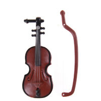 1:12 Dollhouse Miniature Violin Musical Instruments Collection DIY Decor Gift LT