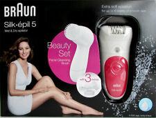 Braun 5-539 Silk-epil 5 Wet & Dry Epilierer mit Gesichtsreinigungsbürste NEU