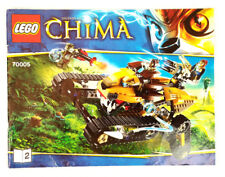 Lego 2013 Legends Of Chima Lavals Royal Fighter Instruction Manual Only 70005