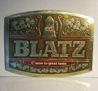 VINTAGE BLATZ BEER SIGN  FOIL OVER CARDBOARD ADVERTISING