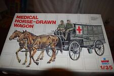 ESCI Medical Horse-Drawn Wagon Model 1:35th New/Unmade Free-Post UK