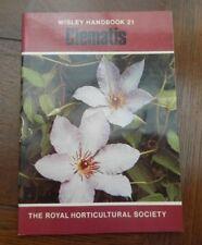 Wisley Handbook 21 Clematis RHS 1979 VGC