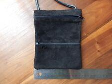 b7eb47923fc Handmade Genuine Black Leather Crossbody Bag simple minimal fuctional