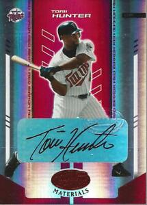2004 Leaf Certified Materials Mirror Autograph Red #183 Torii Hunter Auto /250