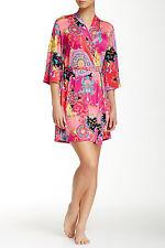 Josie NATORI Pink Multi Hollywood Boho Wrap/Robe. Sz M.*****NEW*****$68*****
