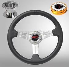 For Accord 90-93 Prelude 92-96 Chrome Steering Wheel Combo Kit w/GD Quick Relea