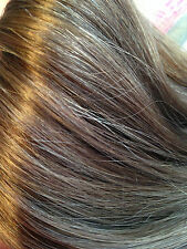 """REMMY AAAA 100% HUMAN HAIR EXTENSION CLIP IN 18"""" no 6 light brown  UK"""