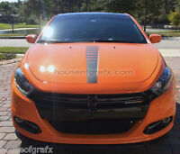 Center Hood Strobe Decal Decals Graphics Stripes fit 2013+ Dodge Dodge Dart