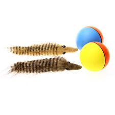 Popular Dog Cat Weasel Plush Motorized Funny Rolling Ball Toys Pet Jump Moving