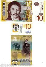 Serbie SERBIA Billet 10 DINARA 2013 NEW NOUVEAU NEUF UNC