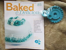 BAKED & DELICIOUS MAGAZINE RECIPE BOOK CAKES & PUDDINGS ISSUE 85 & ICING MOULD