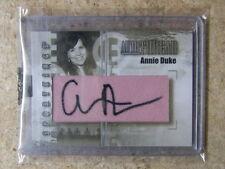 2008 Sportkings Serie B Poker Autothreads ANNIE DUKE /9 Leaf Razor