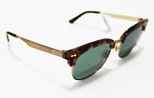 AUTHENTIC Italy GUCCI MEN'S Clubmaster Gold Baroque Column 52-18-145 Sunglasses