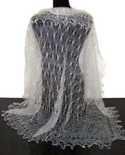 Chale russe d'Orenbourg idée cadeau original Femme Chale Blanc Tricoté à la main