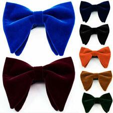 Para hombre Big Bow Tie Boda Novedad Esmoquin Corbata Pajarita clásico caliente ajustable