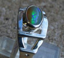 Crystal Opal 1.1 Karat 950er Silberring Größe 19,4 mm