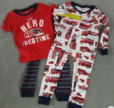 S L Sizes 9M NWT Jumping Beans Fire Truck Photo-surreal Boys Tee 4 7