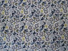 "LIBERTY OF LONDON TANA LAWN FABRIC DESIGN ""Bobo A "" 2.4 METRES BLUE/YELLOW"