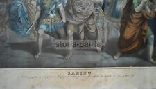 ANTICA STAMPA LITOGRAFICA A COLORI_SOLDATI ROMANI_TEMPLI_AGIOGRAFIA_PUGLIA_'800