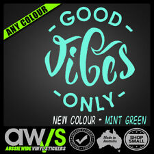 GOOD VIBES QUOTE STICKER DECAL FOR CAR HIPPY GIRLS CUTE LOVE SURF SPIRITUAL
