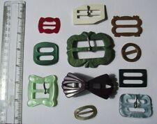 Job lot of vintage buckles