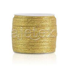 "50 Yards 1/8""3mm Gold Sheer Organza Ribbon Craft Hair Bows Wedding Décor IF"
