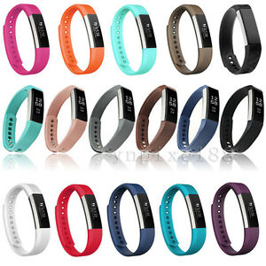 Replacement Genuine Leather/Silicone Watch Band Wrist Strap For Fitbit Alta & HR