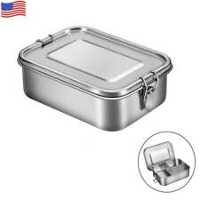 1400ml Leakproof Bento Lunch Box Stainless Steel Snack Food Lunch Containers Box