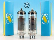 2x ELECTRICALLY MATCHED 6P14P / 6П14П GOLD GRID Military PAIR Tubes / EL84 6BQ5