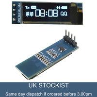 """IIC I2C 0.91"""" inch 128x32 Blue OLED LCD Display Module 3.3v 5v FOR AVR Arduino"""