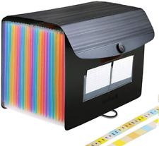 Huge Volume Paper File Organizer With 24 Expanding Pockets Letter Size Folder