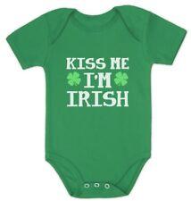 Kiss Me I'm Irish Cute St. Patrick's Day Bodysuit Baby Bodysuit Gift Idea