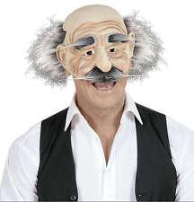 Anciano semi máscara con pelo nuevo-carnaval carnaval máscara facial