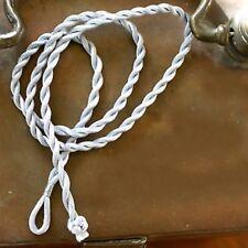 2 CORDONS 50 CM     SOIE POLYESTER TORSADEE    GRIS 4mm / perles