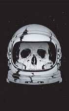 Framed Print - Skeleton Astronaut Skull in Space Helmet (Picture Universe Galaxy