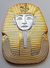 Gold & Silver Pharaoh Coin Medal Egypt Tutankhamuns Mask Pyramids Hieroglyphics